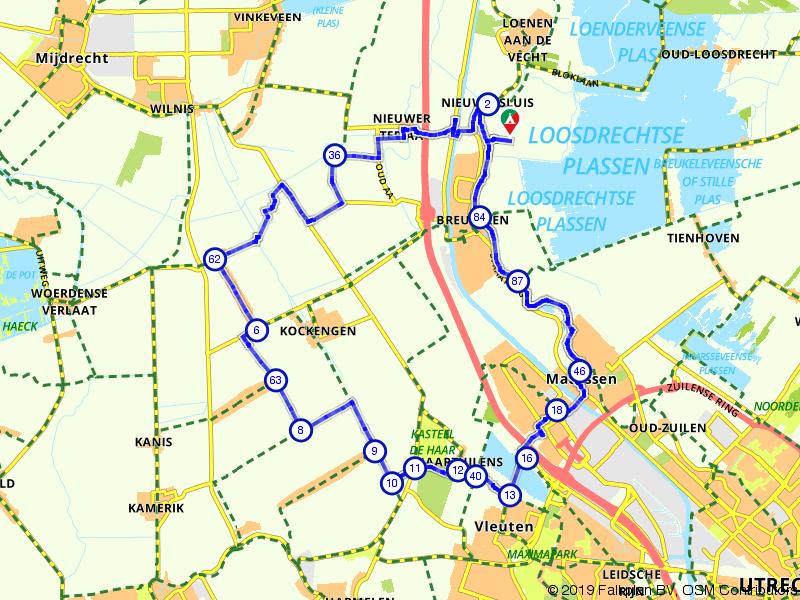 De Vecht en Kasteel de Haar vanuit Breukelen