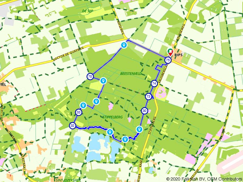 Ruiterroute in de bossen bij Gemert vanuit Recreatiecentrum Het Zwarte Water