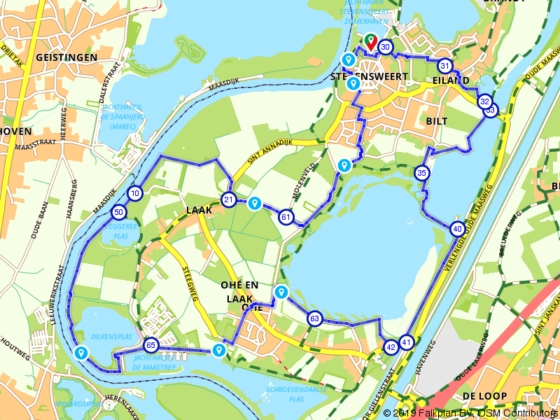 Wandelen op het Eiland in de Maas