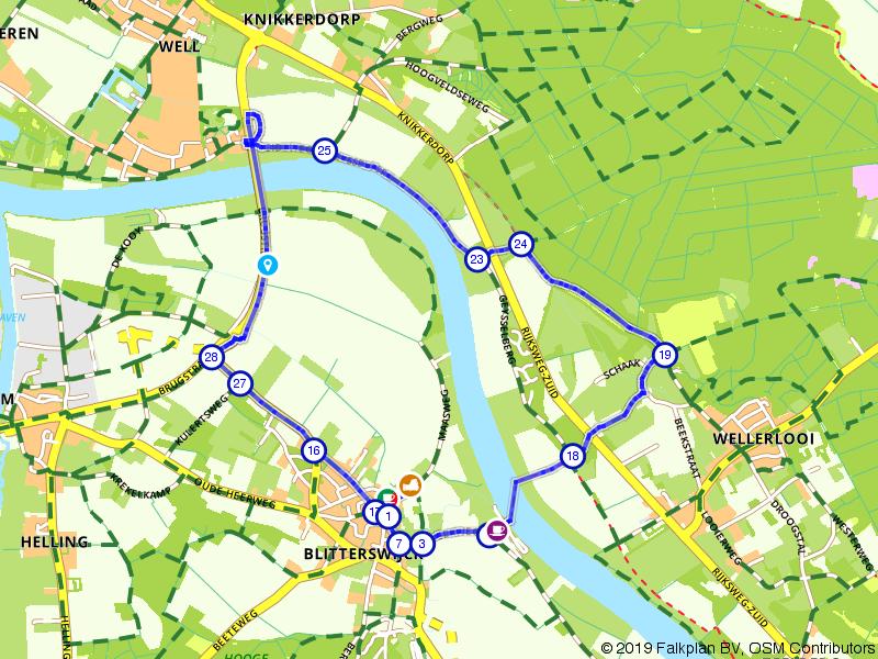 Wandelen langs beide kanten van de Maas