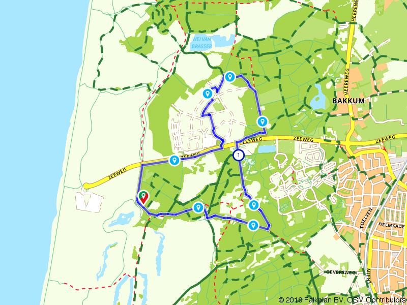 Wandelen door de duinen bij Castricum