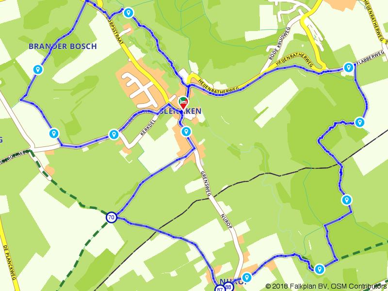 Wandelen door de heuvels bij Slenaken