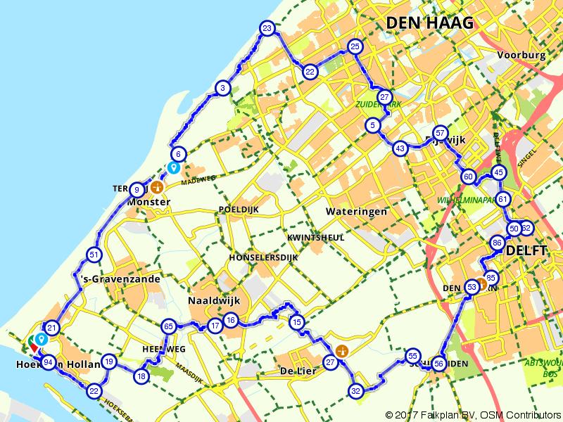 Fietsen door Den Haag, Delft en het Westland