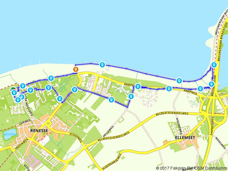 Wandelen langs de kust van Renesse