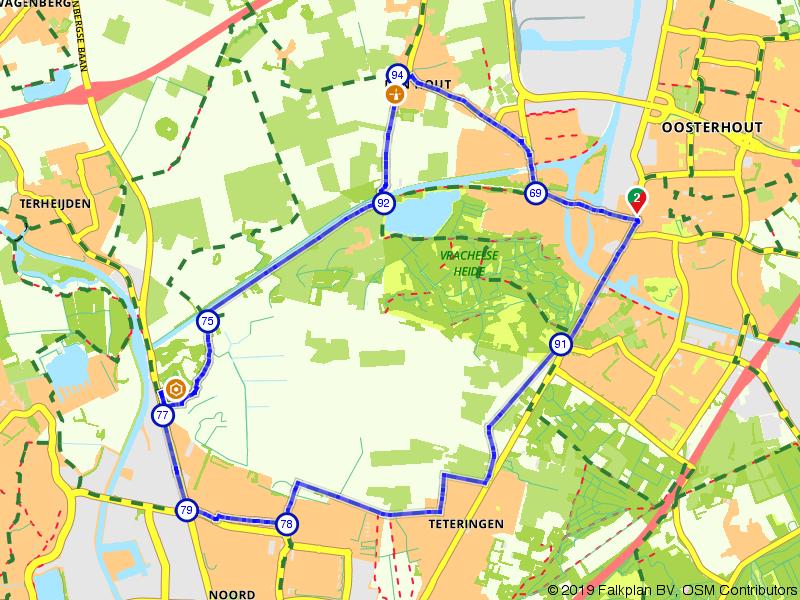 Op de fiets van Oosterhout naar Breda