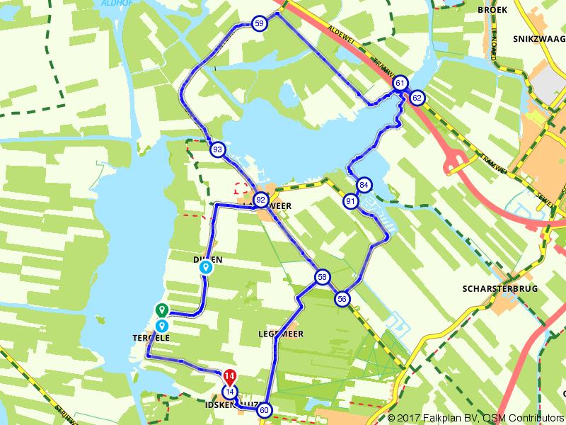 Route langweer