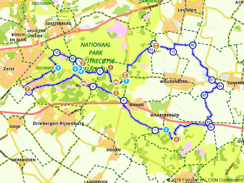 Historische fietsroute over de Utrechtse Heuvelrug