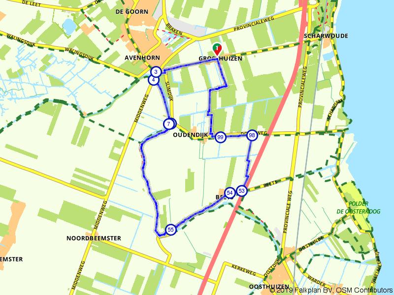 Wandelen door de polders bij Hoorn