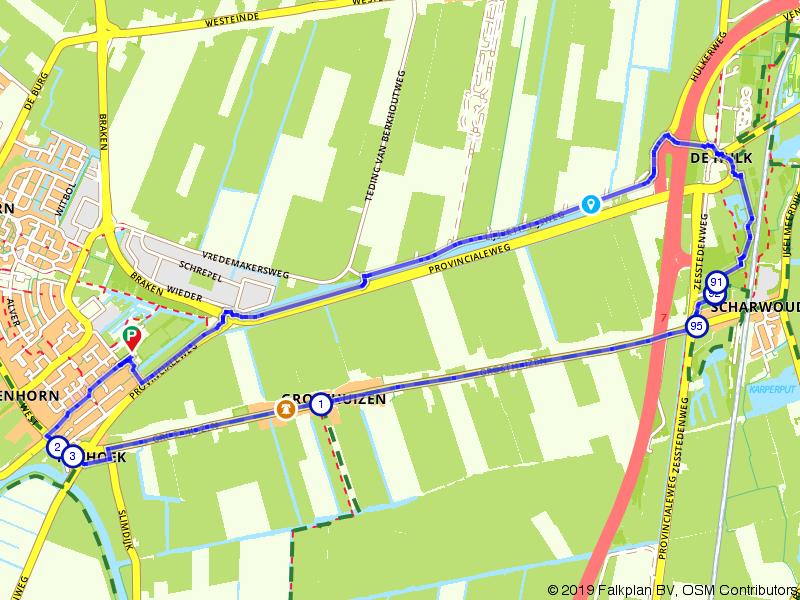 Wandelen door de polders bij Avenhorn