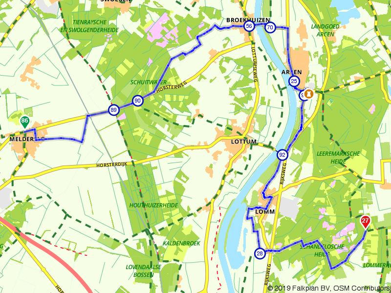 Overkwartier 5 | Door een oude Maasarm: Melderslo - Lomm