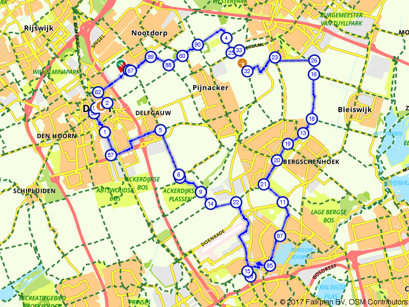 Groene ronde tussen Den Haag en Rotterdam