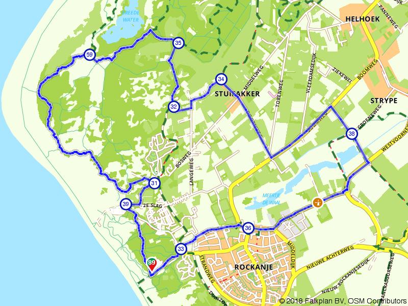 Wandelen door Rockanje en omgeving