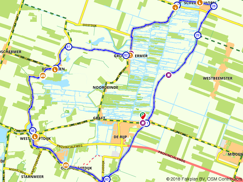 Haring & Hennep fietsroute