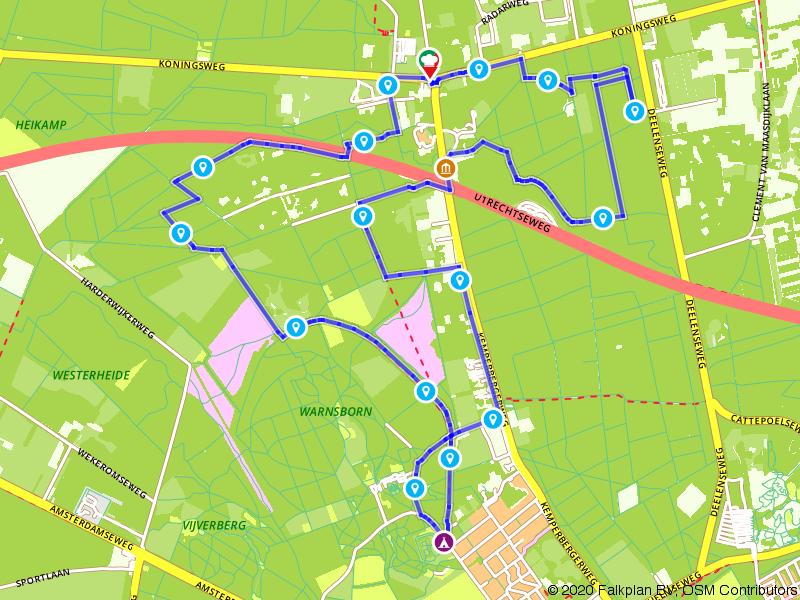 Wandelen door de bossen boven Arnhem