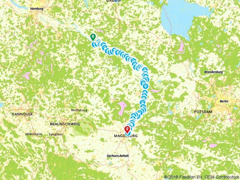 'Elberadweg' - Midden