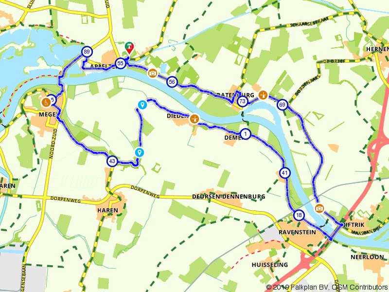 Een rondje langs de Maas vanuit Appeltern