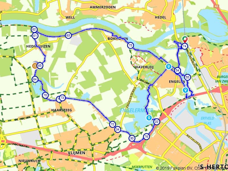 Wandelen door de polders bij Den Bosch