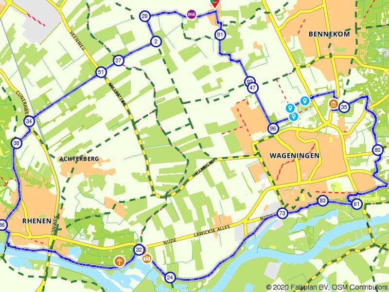 Vanuit de Gelderse Vallei langs de Rijn