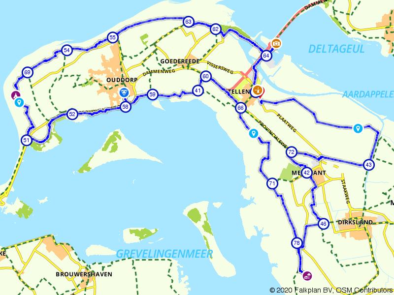 De Vlugtheuvel zon, zee en strand route
