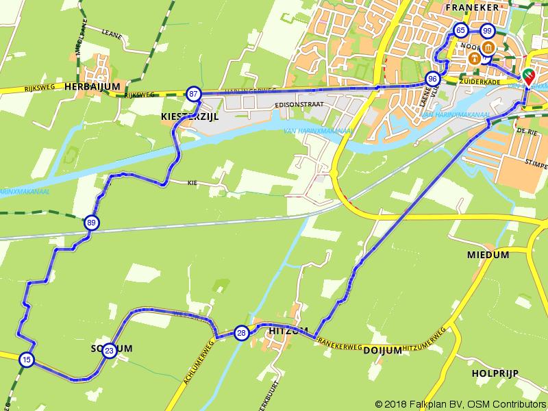 Wandelen door Franeker en omgeving