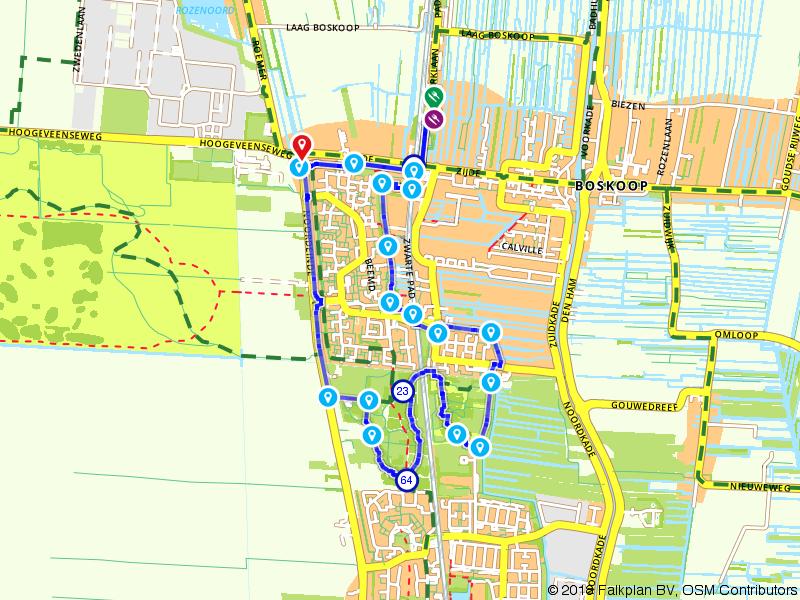 Wandeling Boskoop tot Waddinxveen - Gouwebos