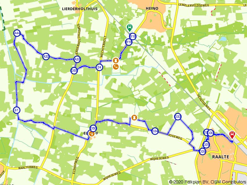 Blauwnet fietsroute Heino-Raalte