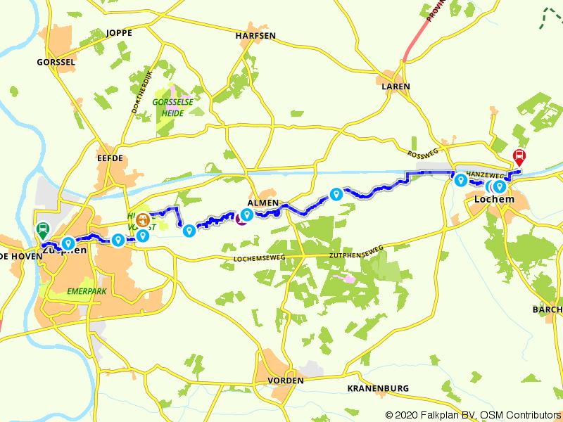 Blauwnet wandeling Zutphen-Lochem