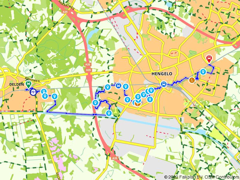 Blauwnet wandeling Delden-Hengelo Gezondheidspark-Hengelo en Hengelo Oost