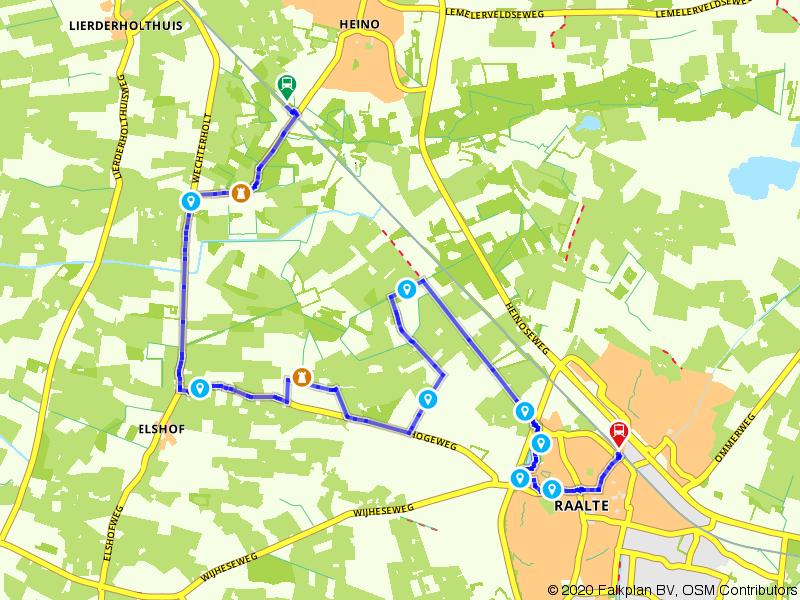 Blauwnet wandeling Heino-Raalte