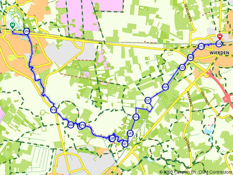 Blauwnet wandeling Nijverdal-Wierden