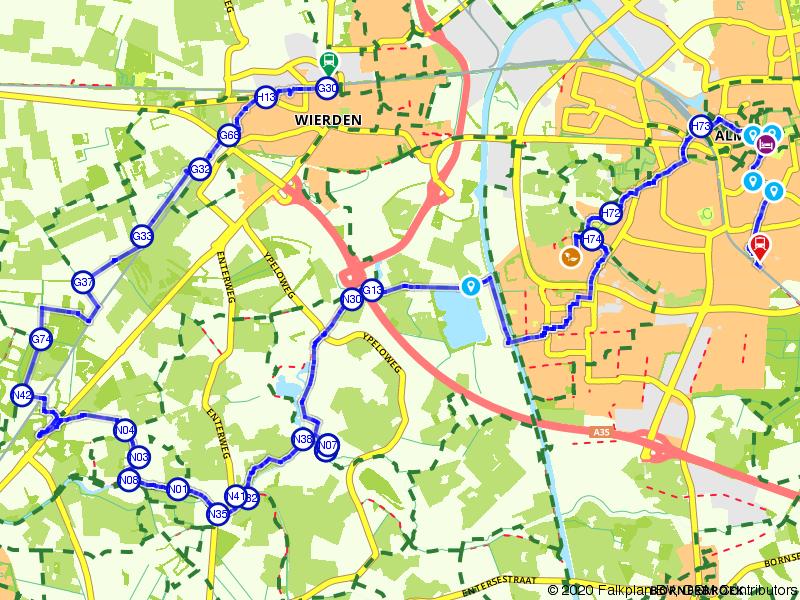Blauwnet wandeling Wierden-Almelo-Almelo de Riet