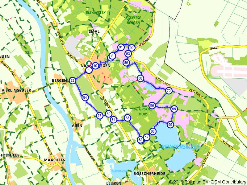 Wandelen van het Eendenmeer naar het Reindersmeer