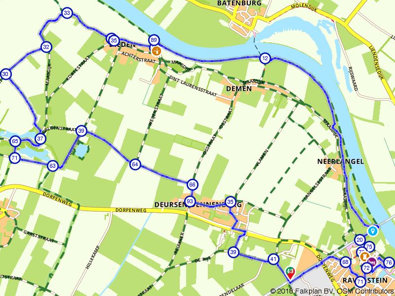 Wandelroute Ravenstein en Maas