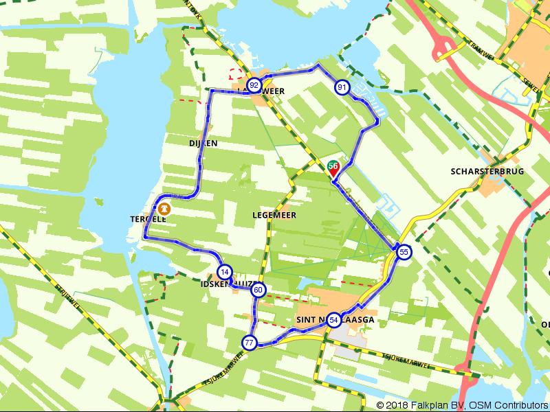 Lyts Sypenstien Langweer Rondrit 16,3 km