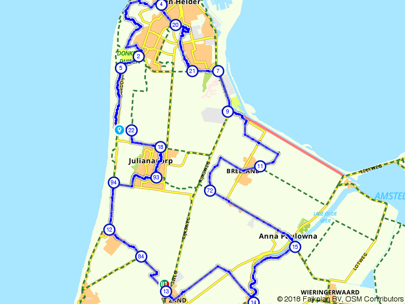 Fortenroute kop van Noord Holland Den Helder