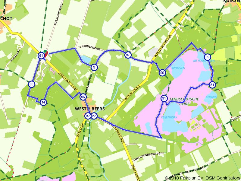 Landschotsche Heide route