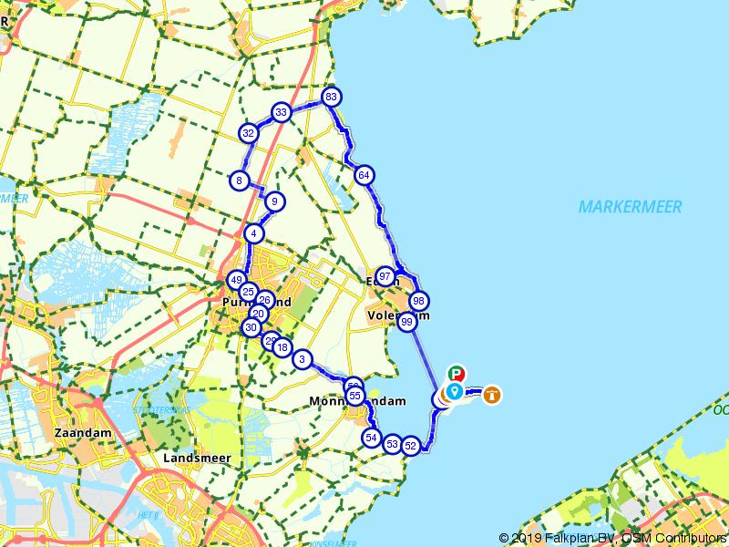 Marken, Volendam en Monnickendam