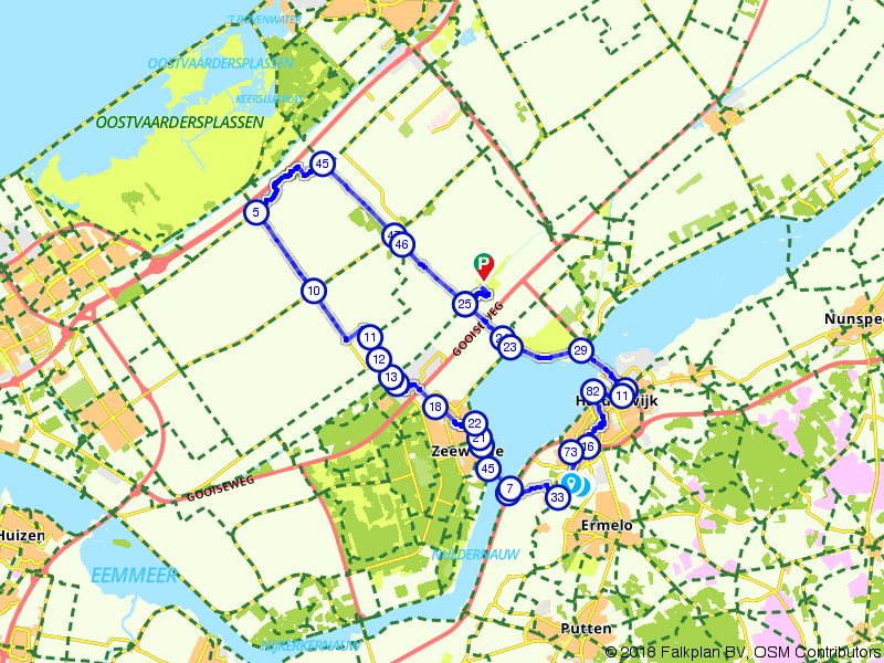 Harderwijk, Zeewolde en de Flevopolder