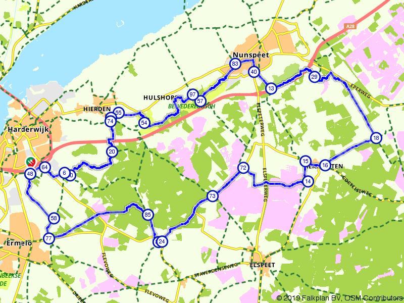 Fietsroute noordelijke Veluwe
