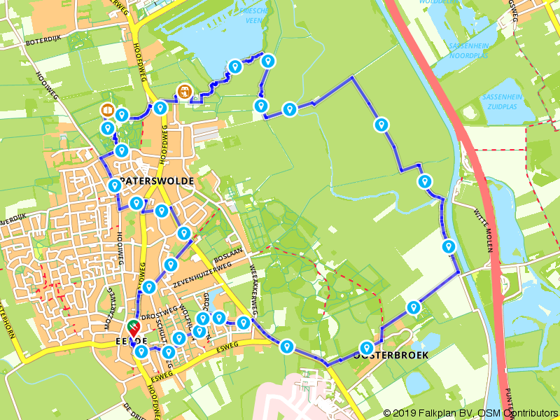 Wandelen in Eelde en Paterswolde