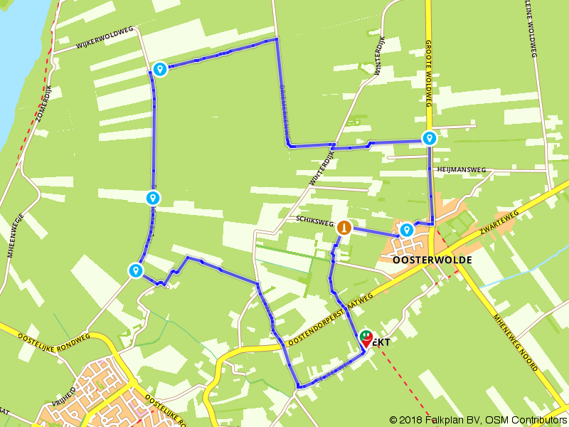 Wandelen door het buitengebied bij Elburg
