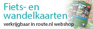 Fiets- en Wandelkaarten verkrijgbaar in de route.nl webshop