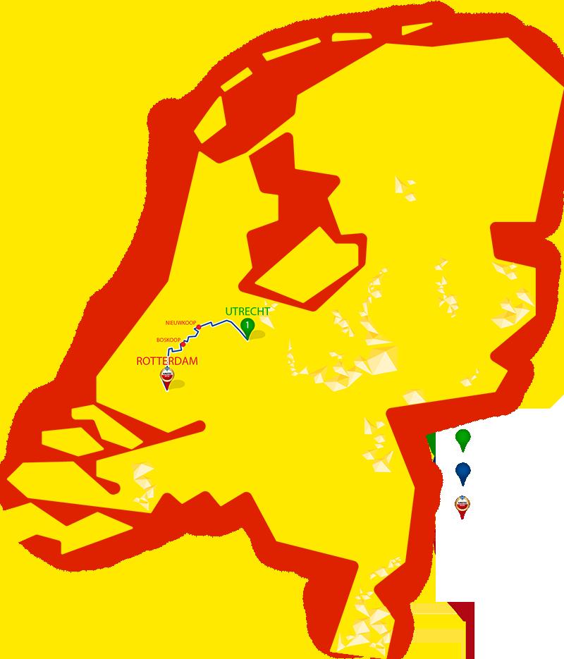 Etappe 1 - Utrecht - Rotterdam