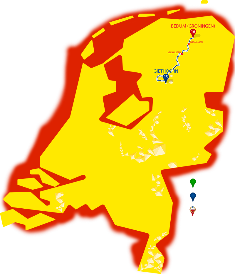 Etappe 15 - Giethoorn - Bedum (Groningen)