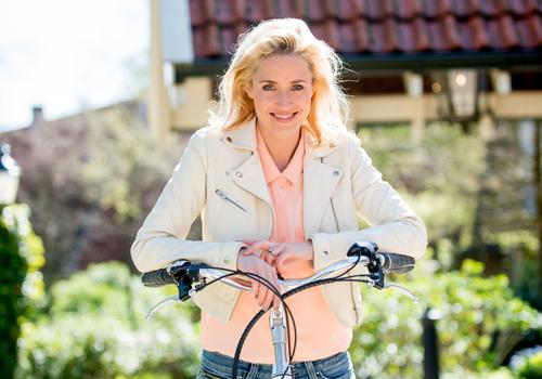 Sanny Vehroeven een echte fietsliefhebber