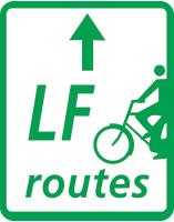 lange afstand fietsroute bord